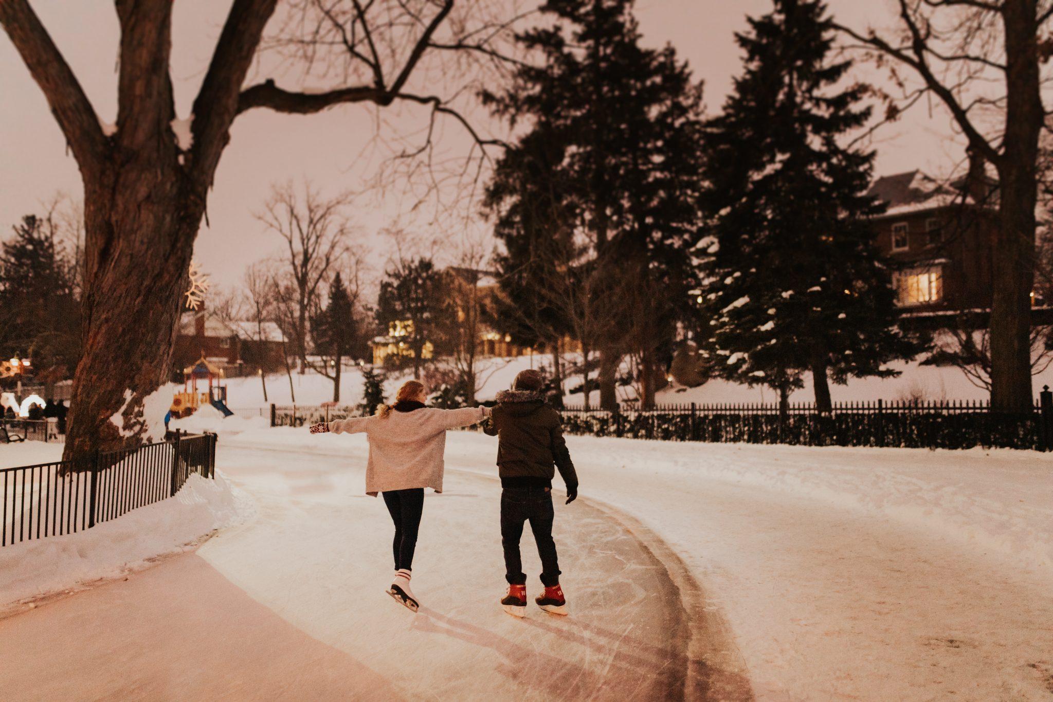 outdoor skating photos Toronto