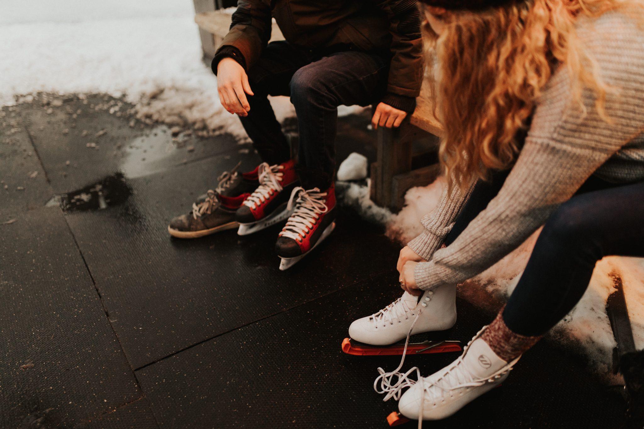 skating engagement shoot