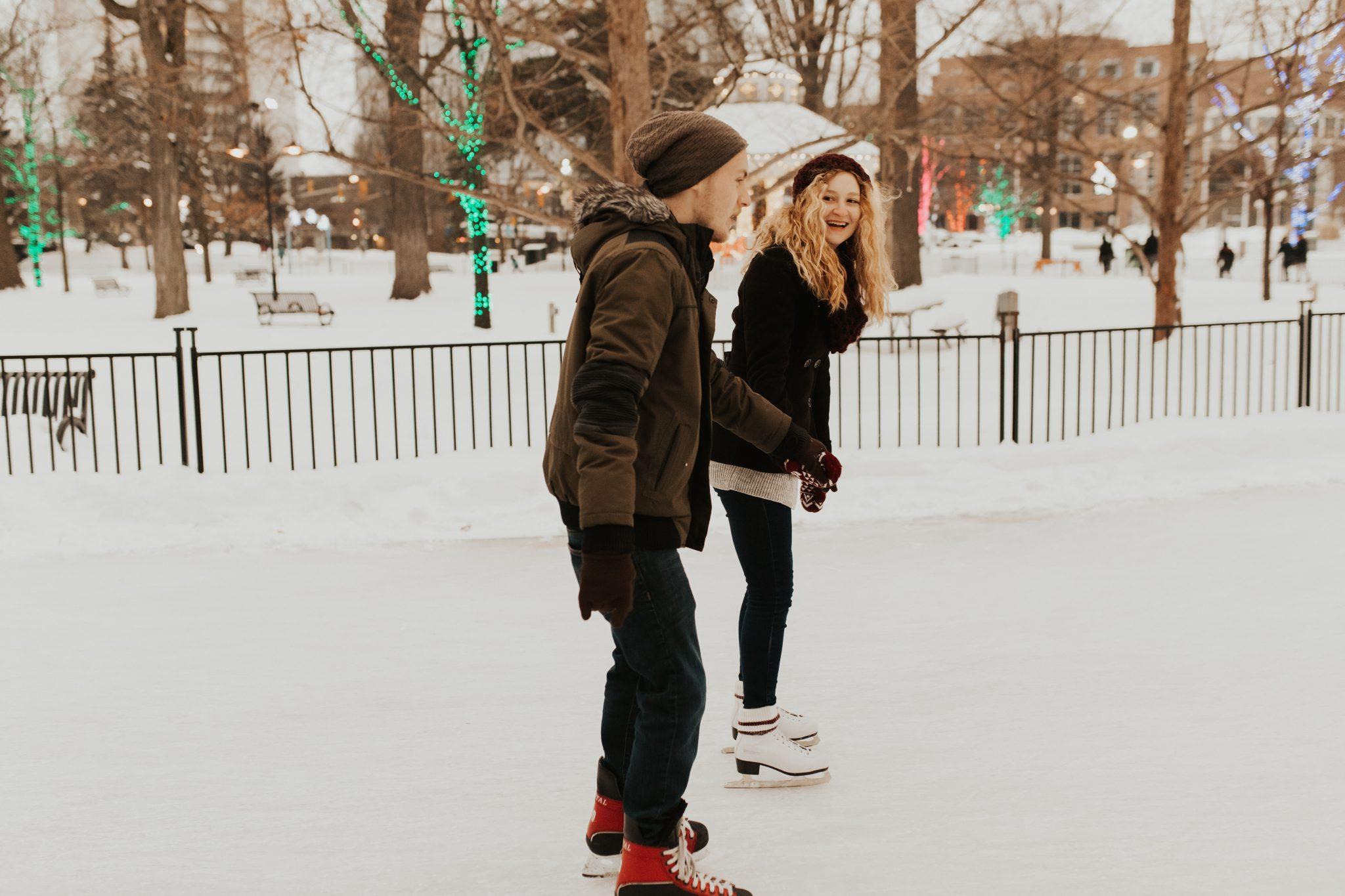 winter skating engagement