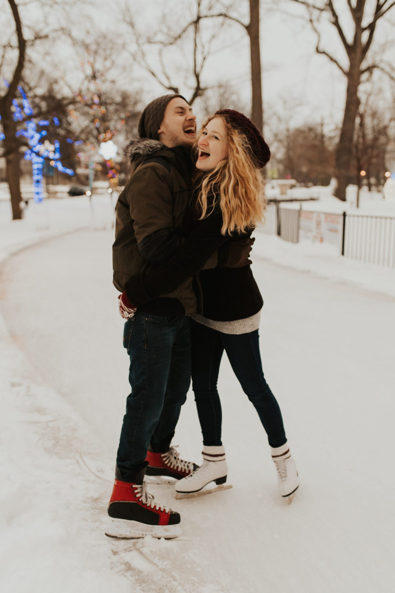 outdoor skating engagement