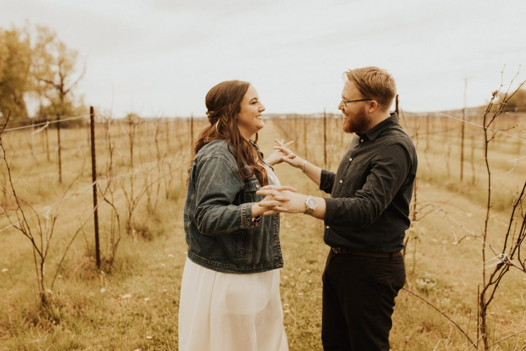 holland marsh wineries engagement photos