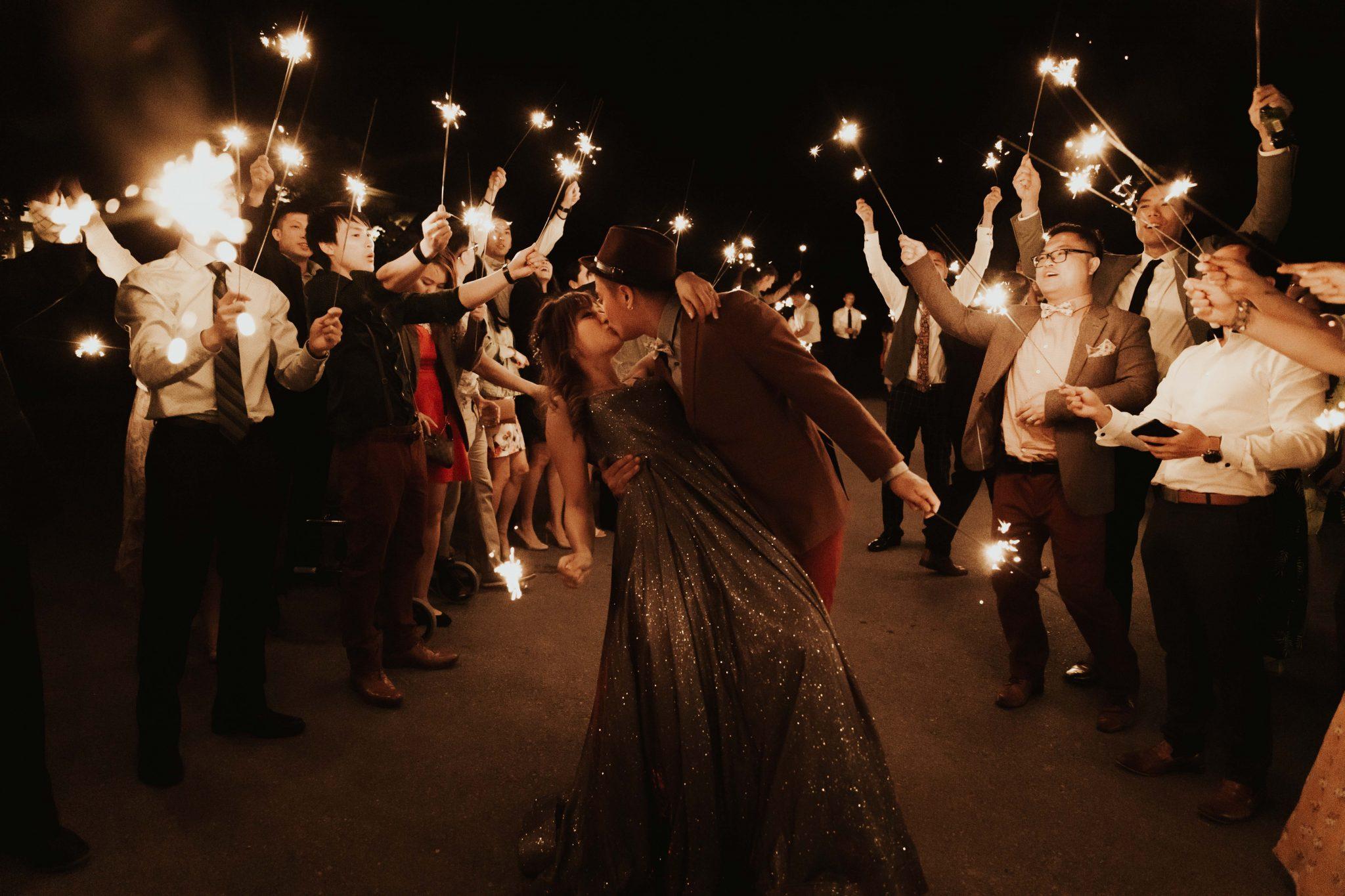 wedding sparkler photos