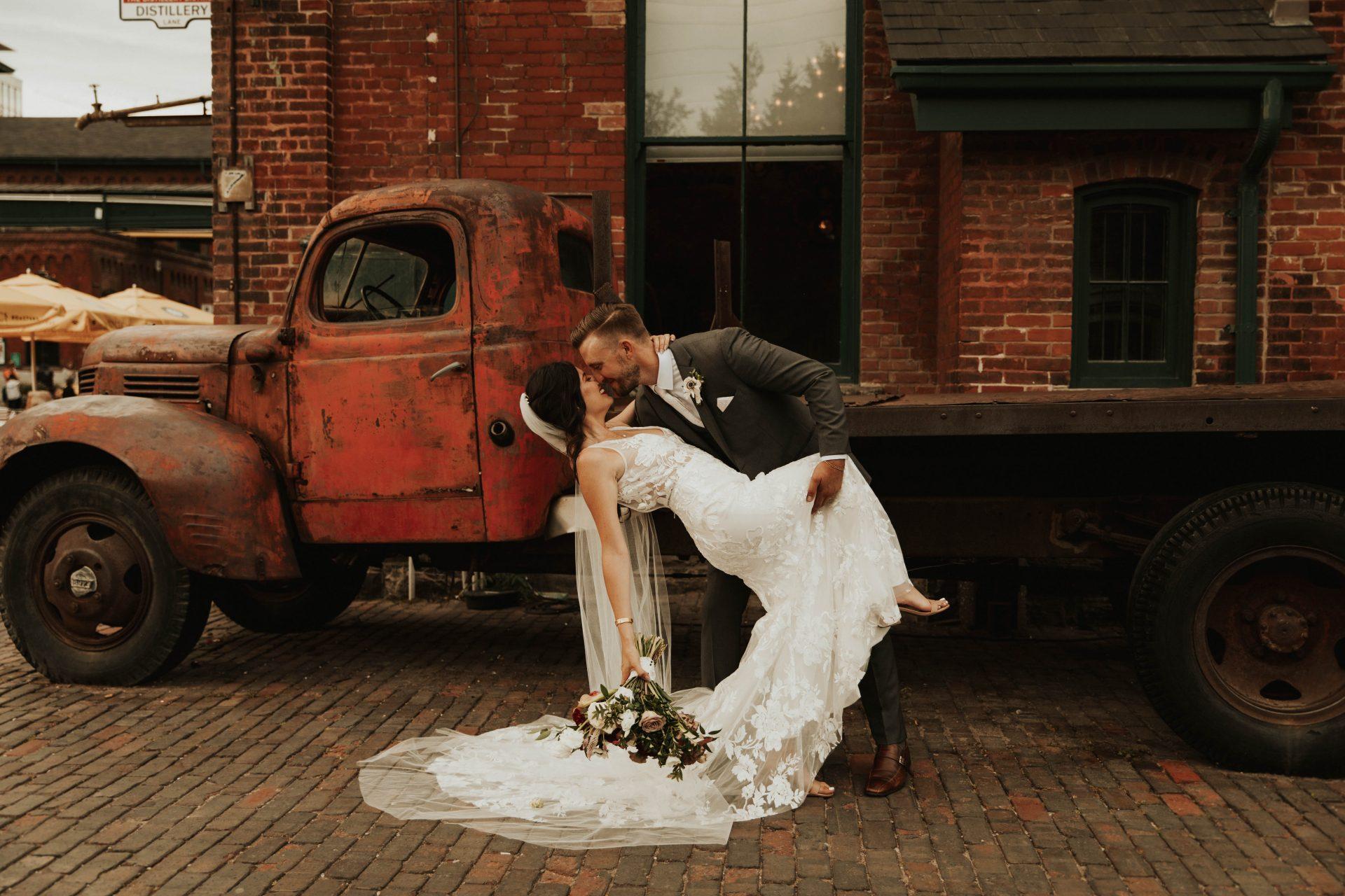 distillery district wedding photos