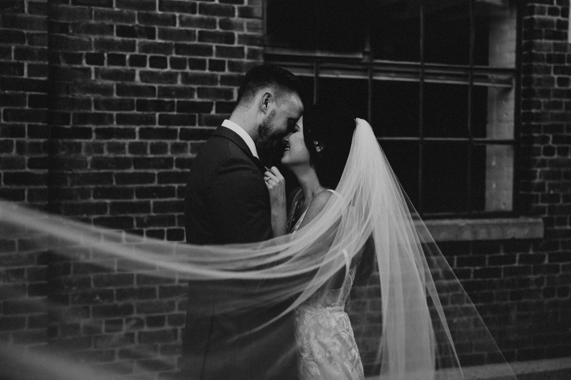 Toronto distillery district wedding
