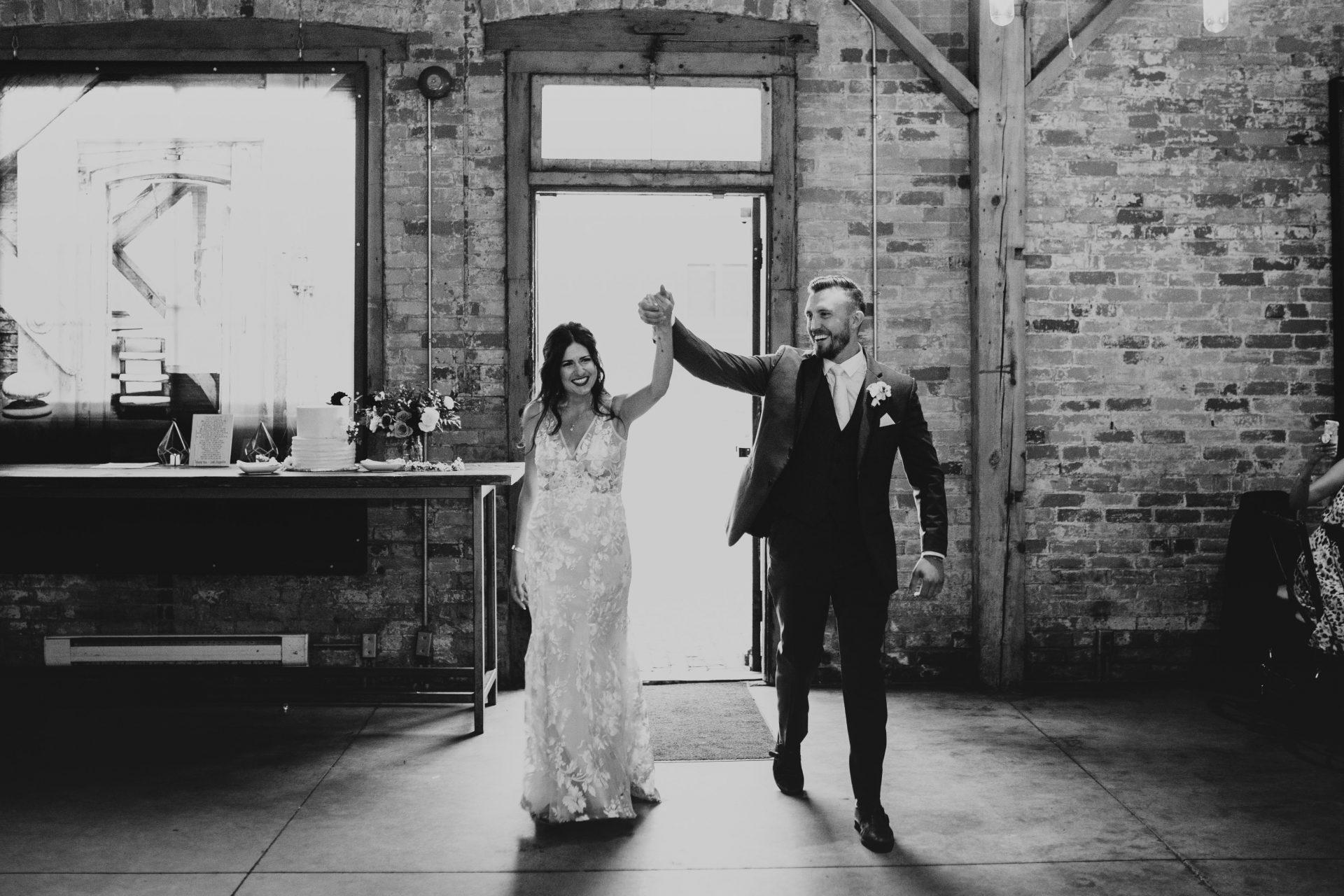 archeo wedding bride and groom entrance
