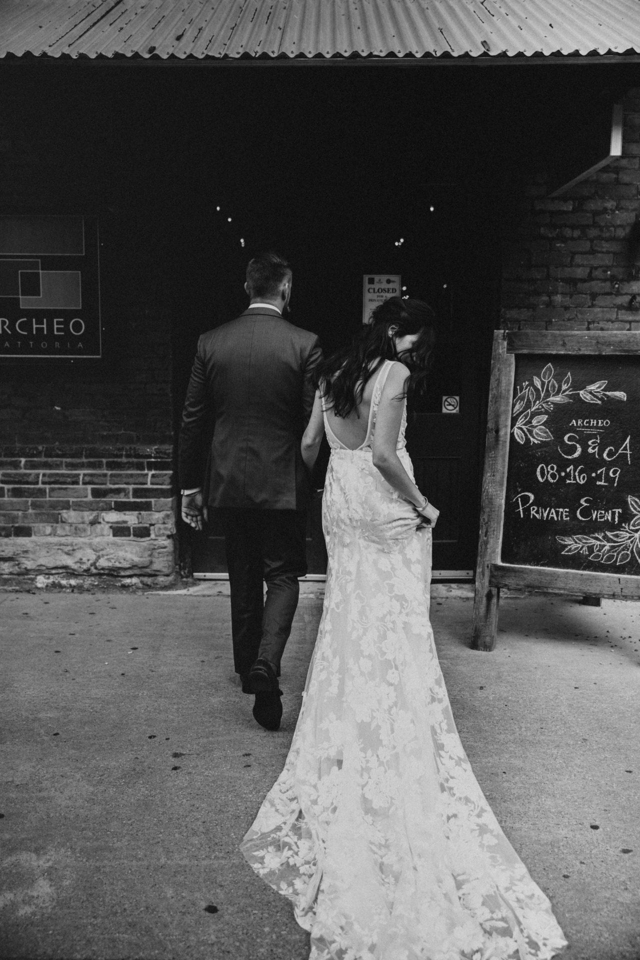 distillery district wedding first look