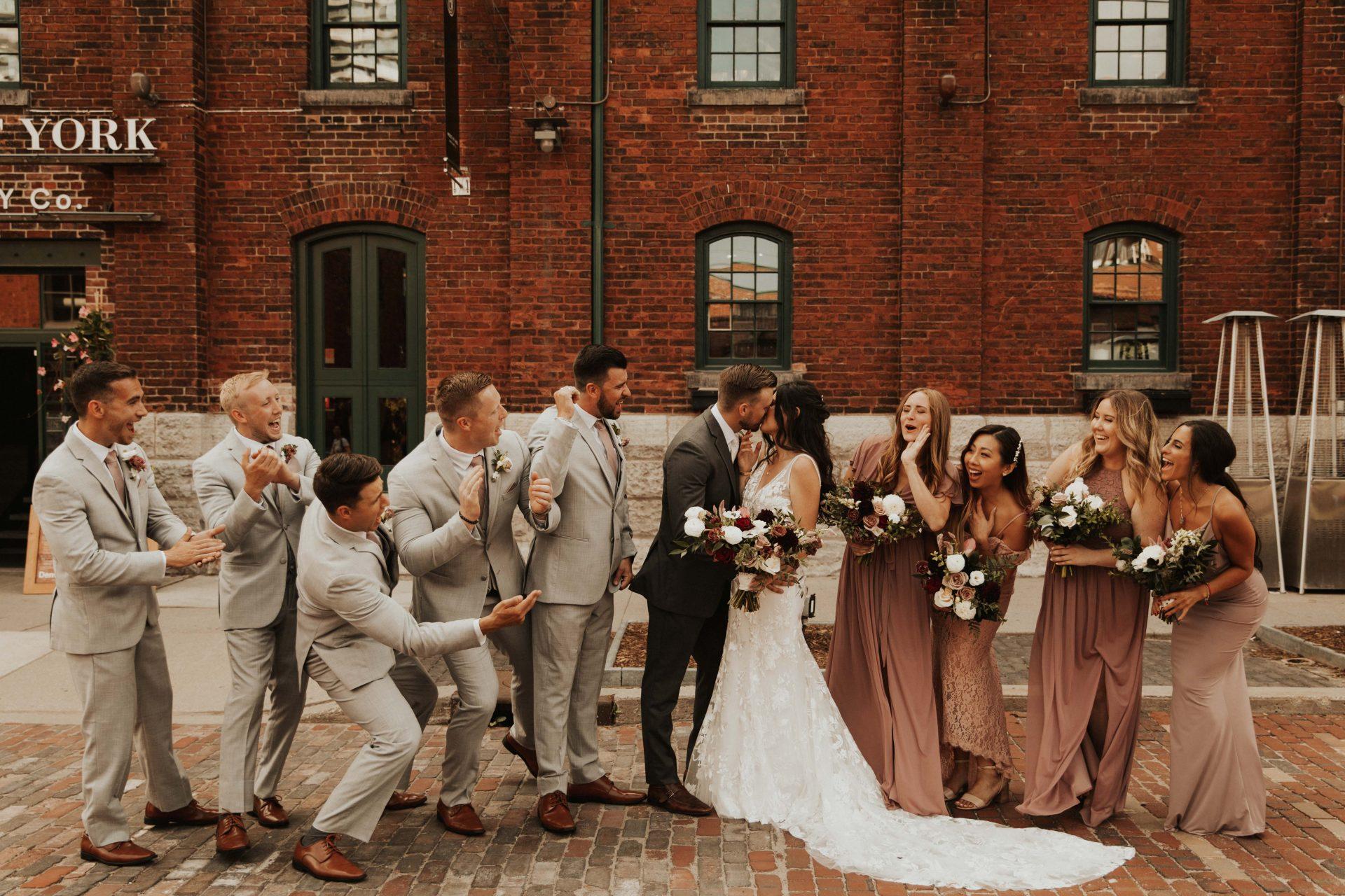 distillery district wedding party