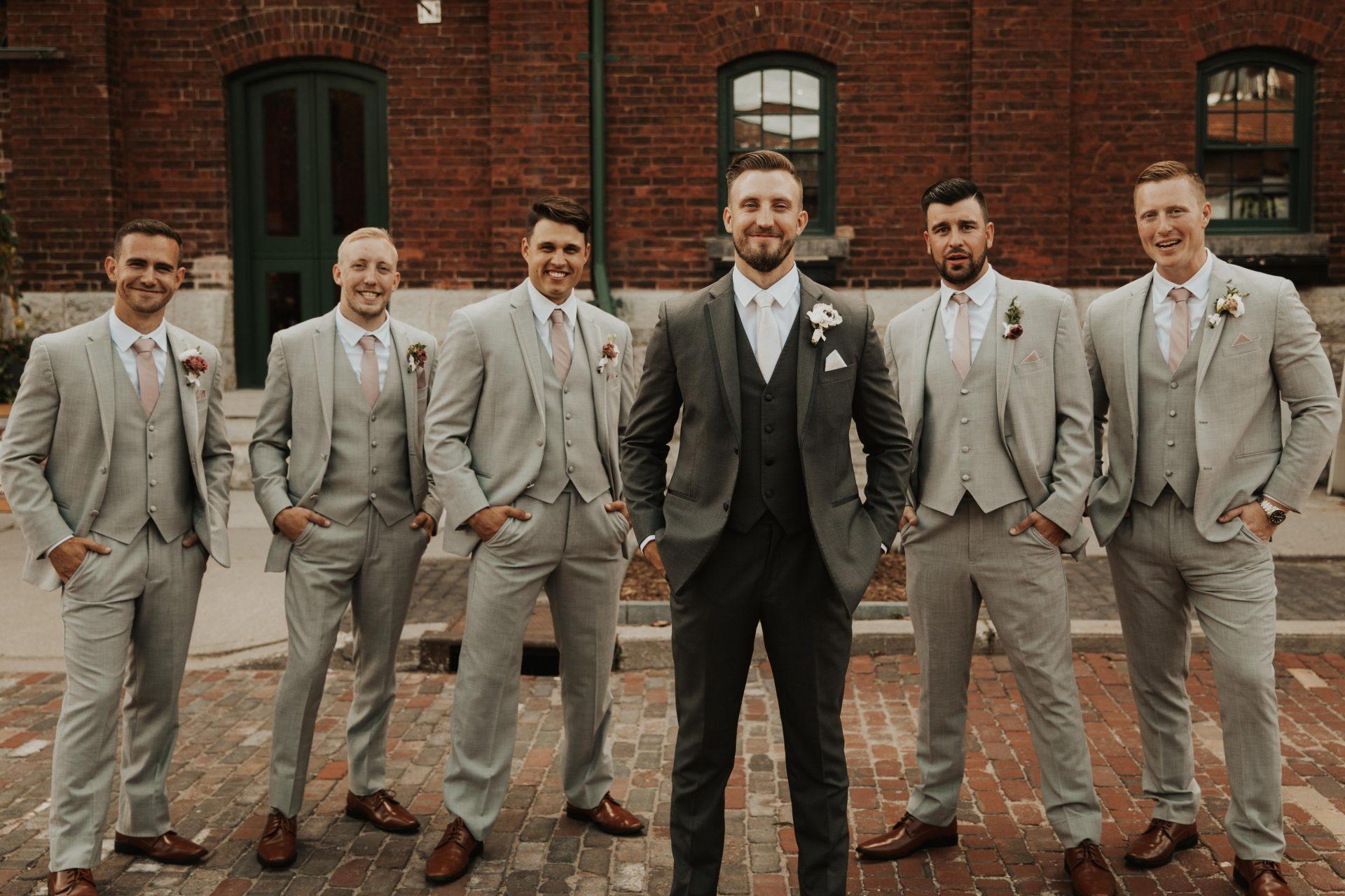 distillery district groomsmen