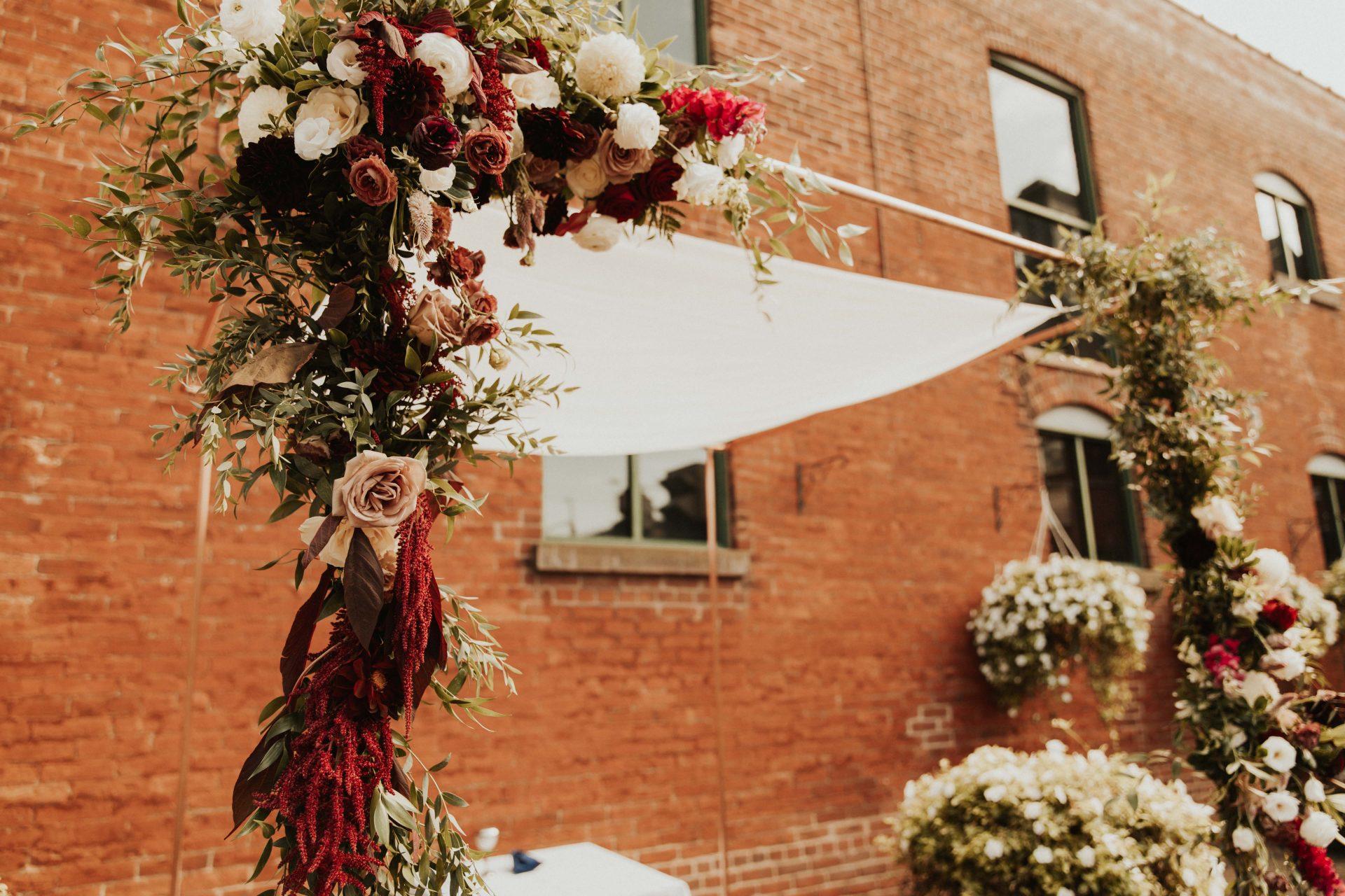 distillery district archeo wedding florals