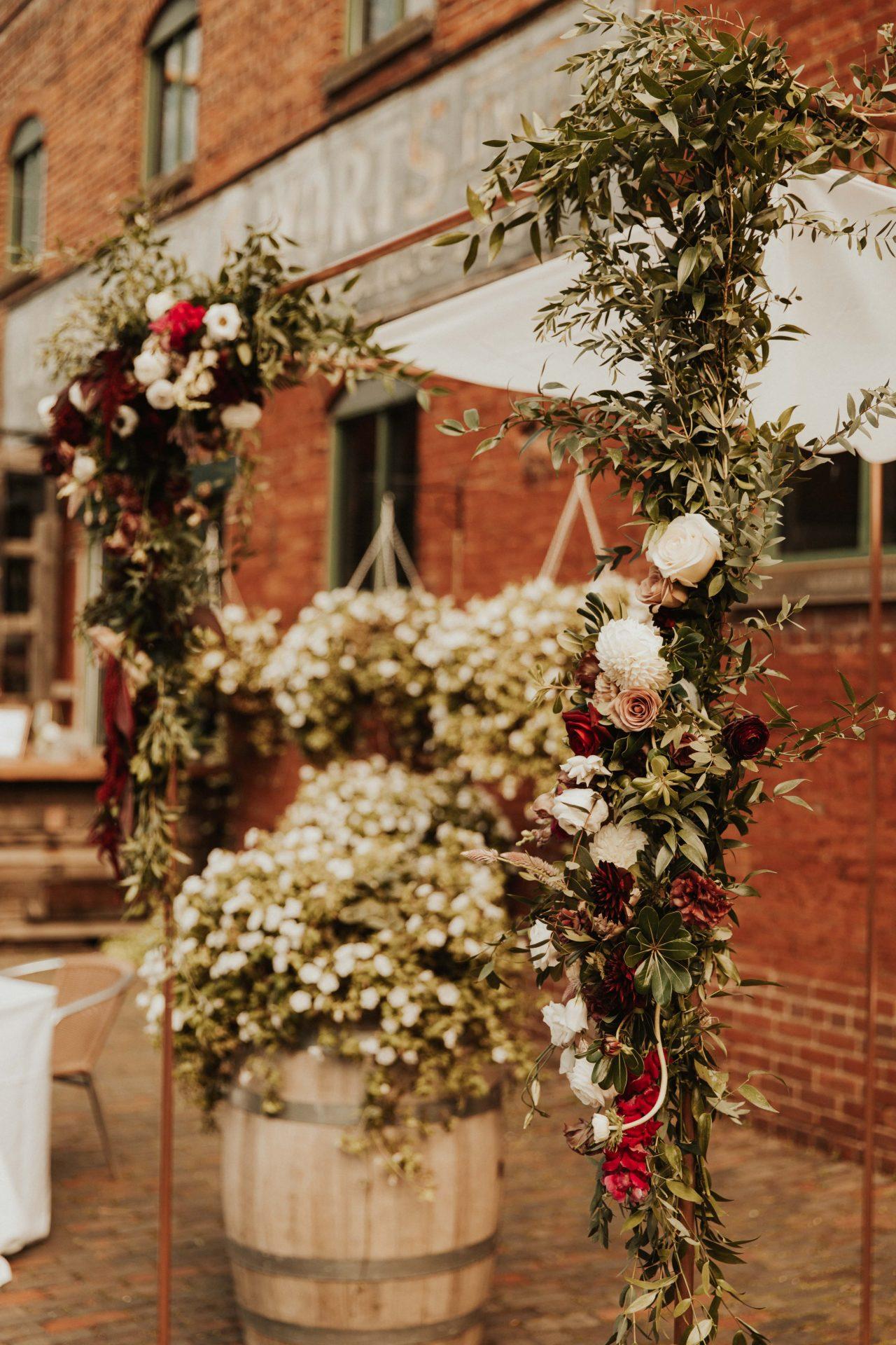 distillery district wedding florals