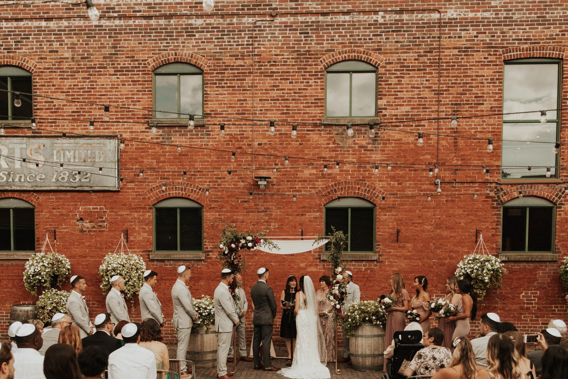 distillery district archeo wedding