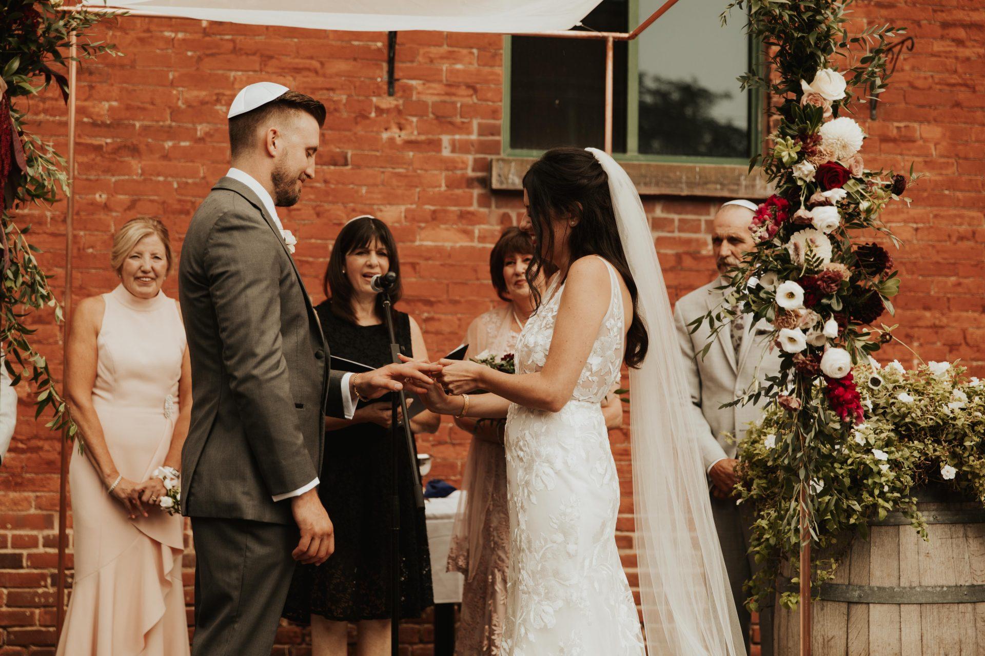 distillery district wedding ceremony