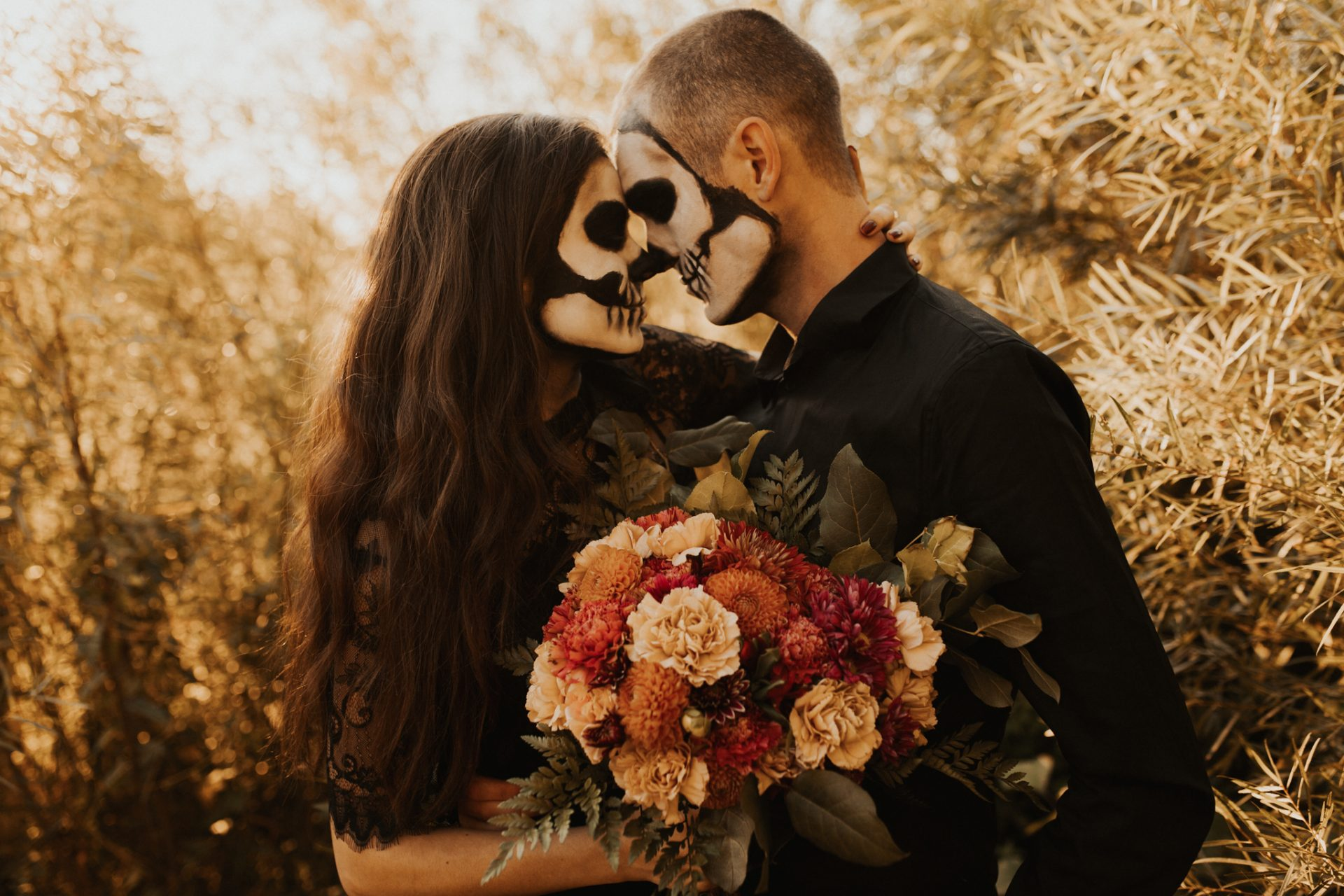 halloween styled couples shoot