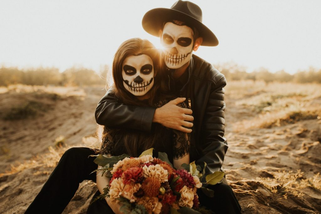 styled halloween couples session