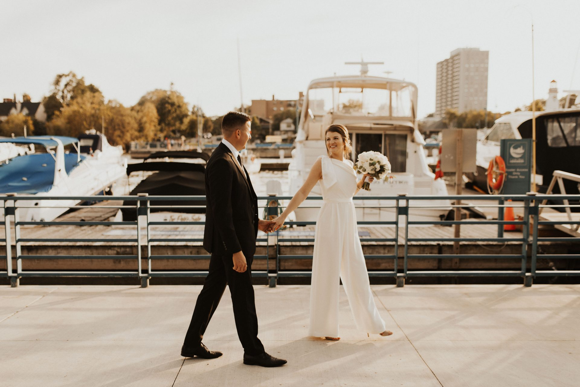 port credit marina wedding photos