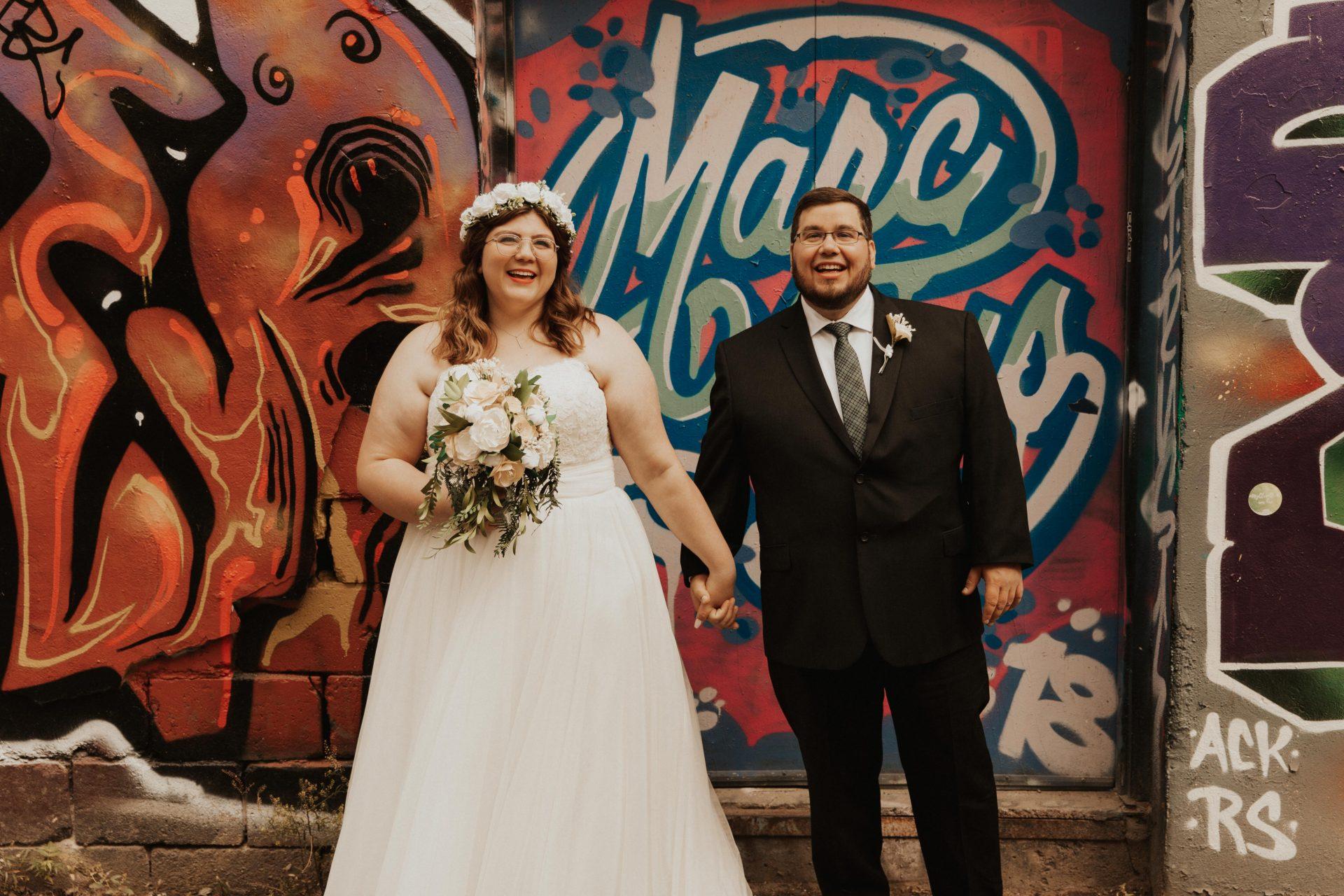 graffiti alley toronto wedding photos