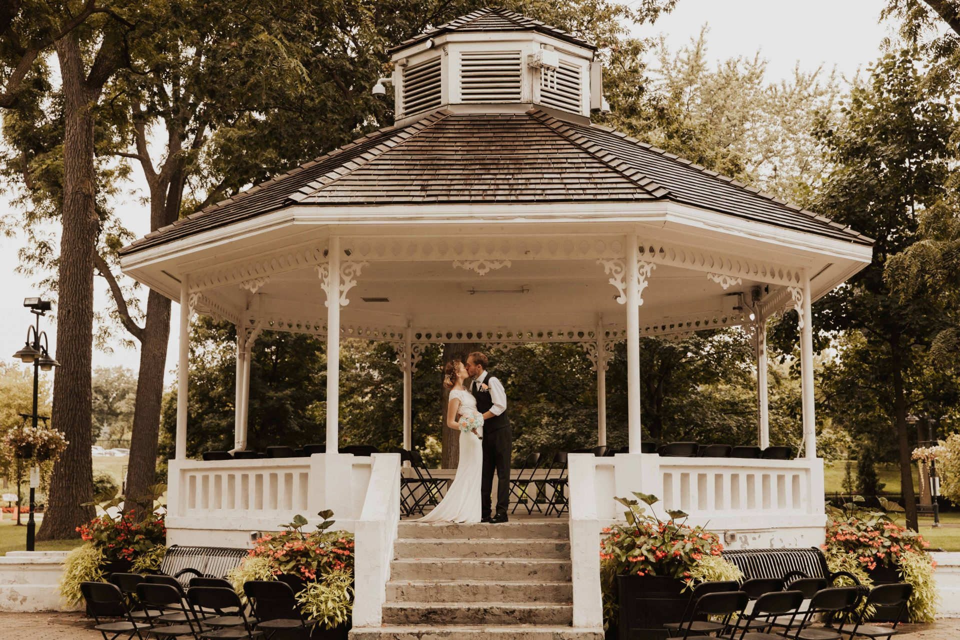gage park gazebo wedding