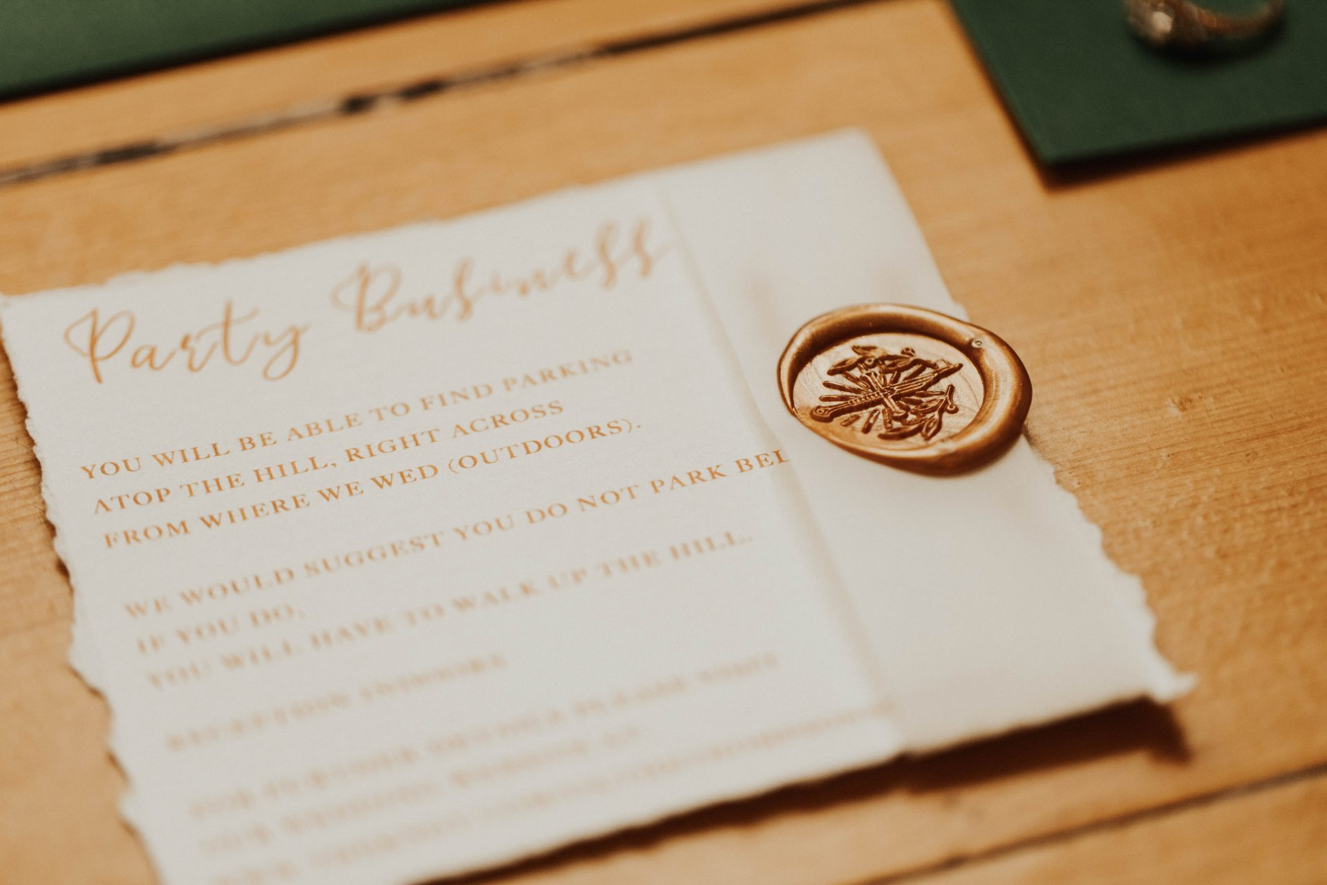lord of the rings themed wedding invitation
