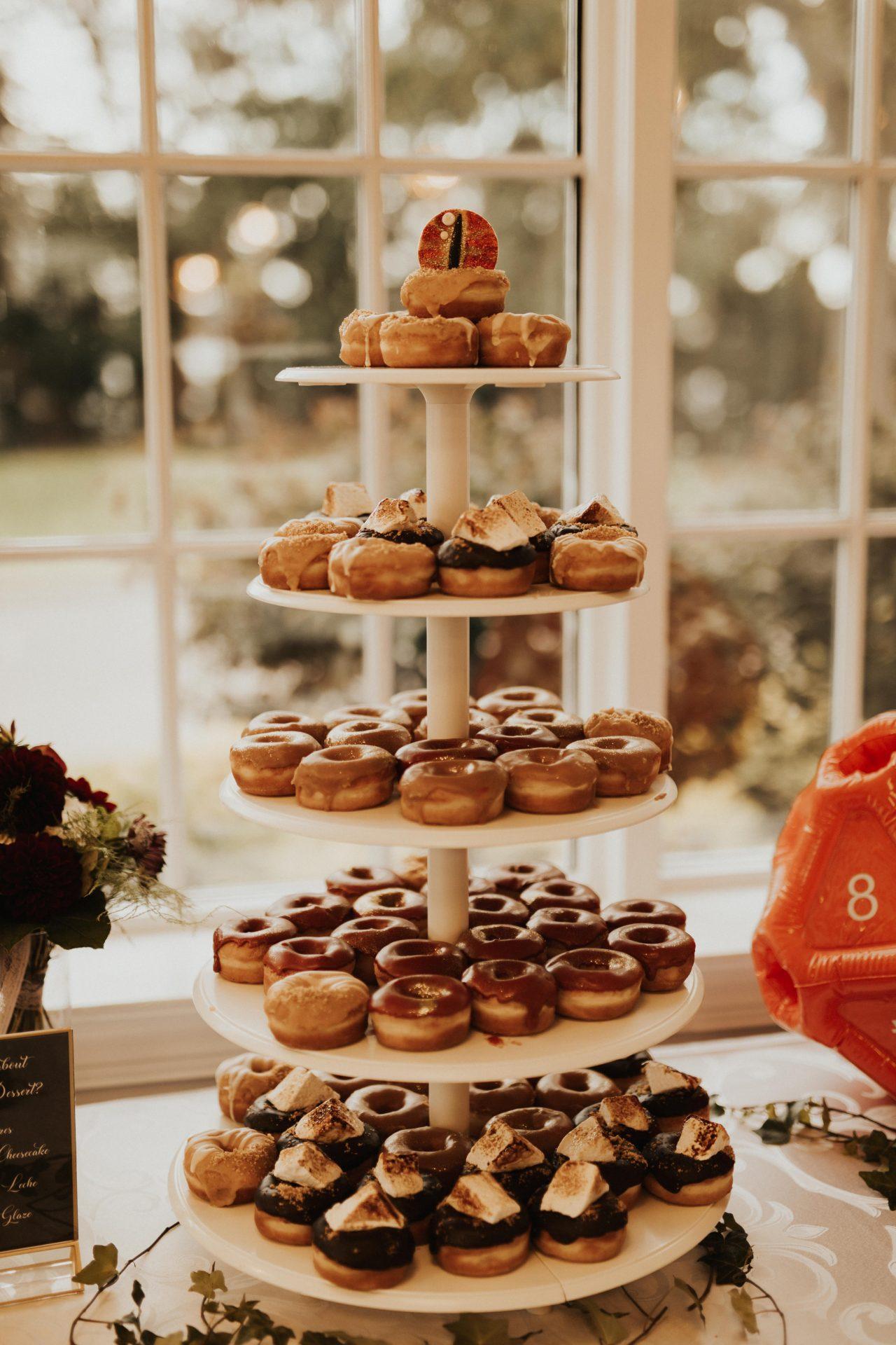 eye of Sauron donut tower wedding