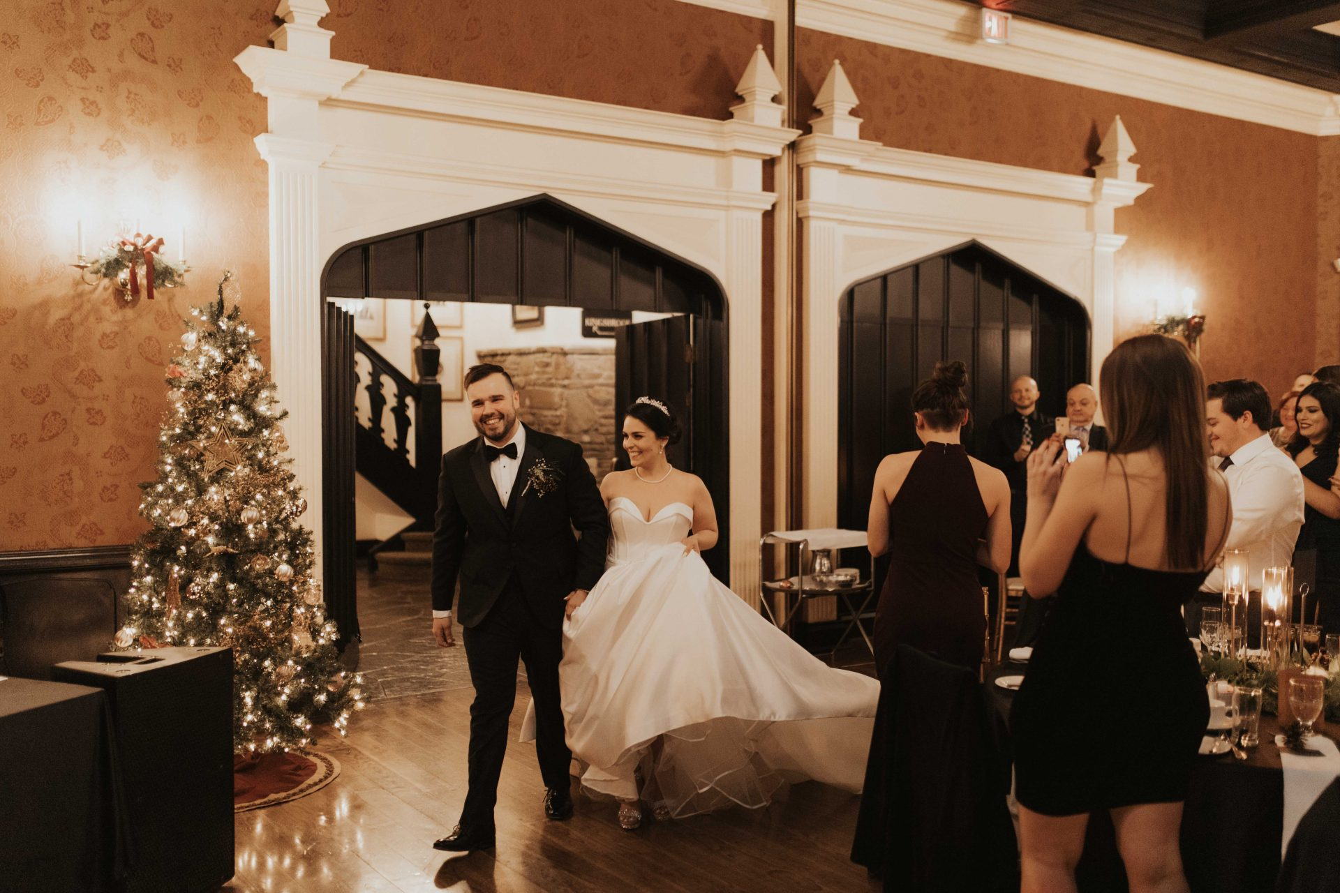 old mill toronto christmas wedding