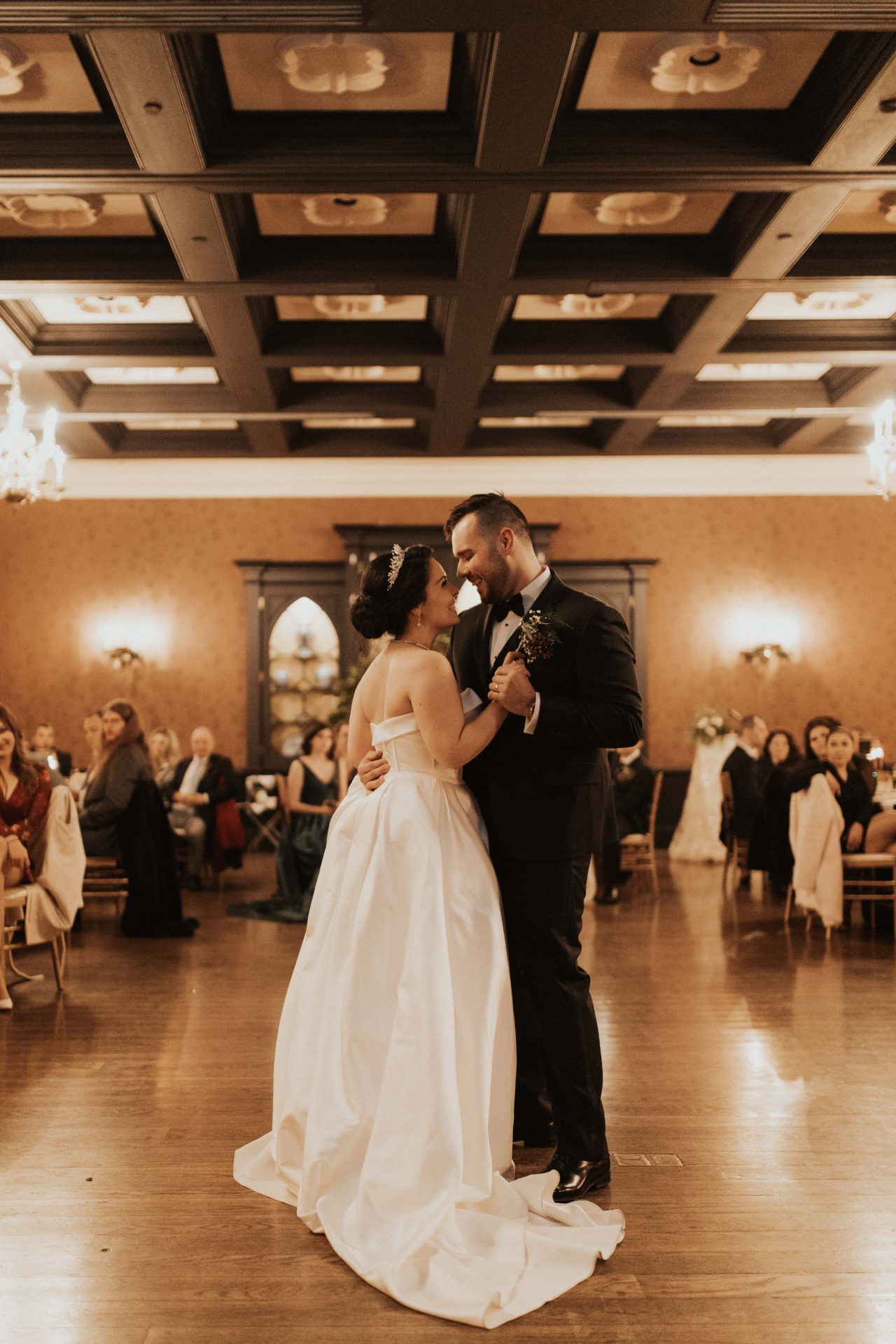 old mill toronto winter wedding