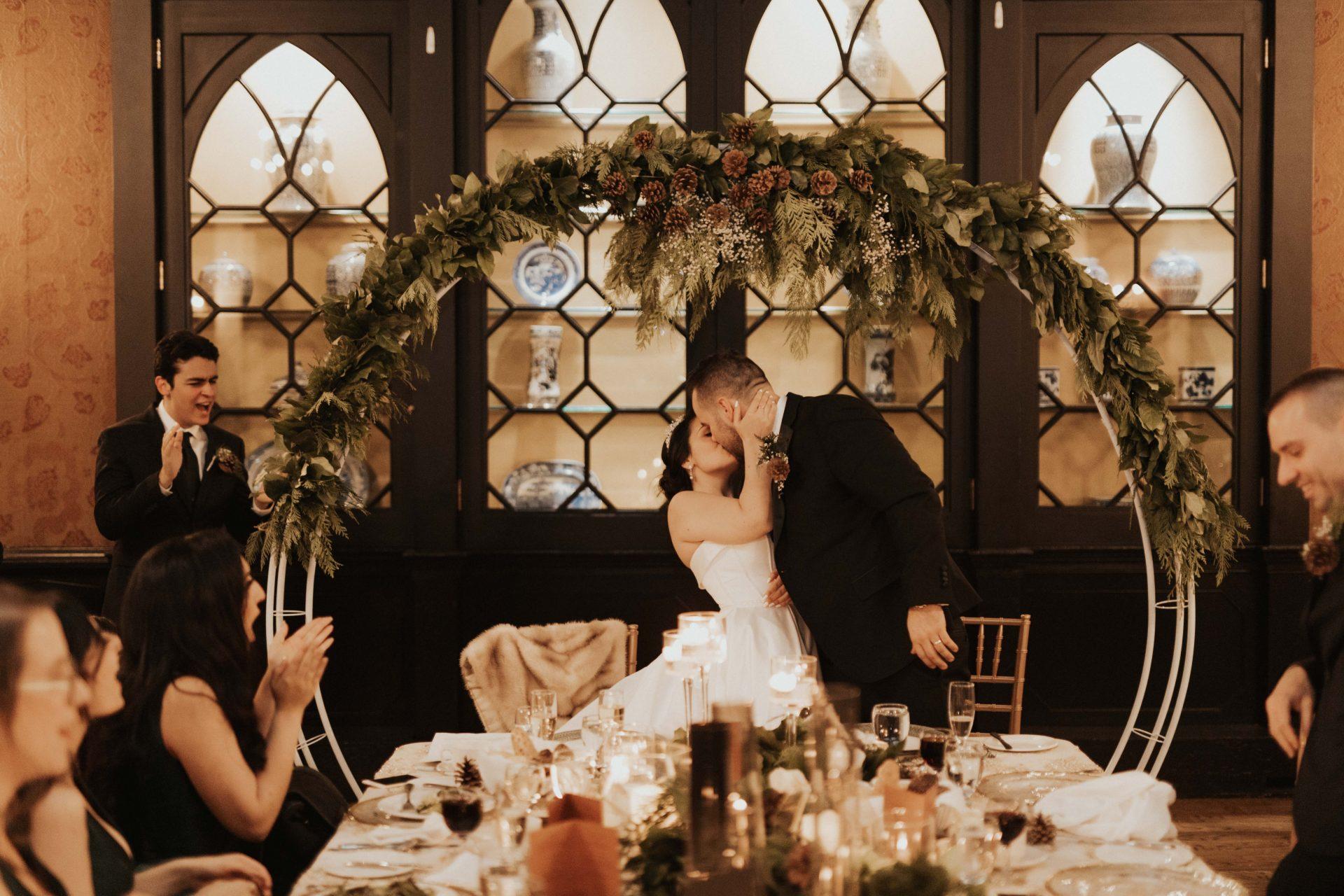 old mill toronto winter wedding