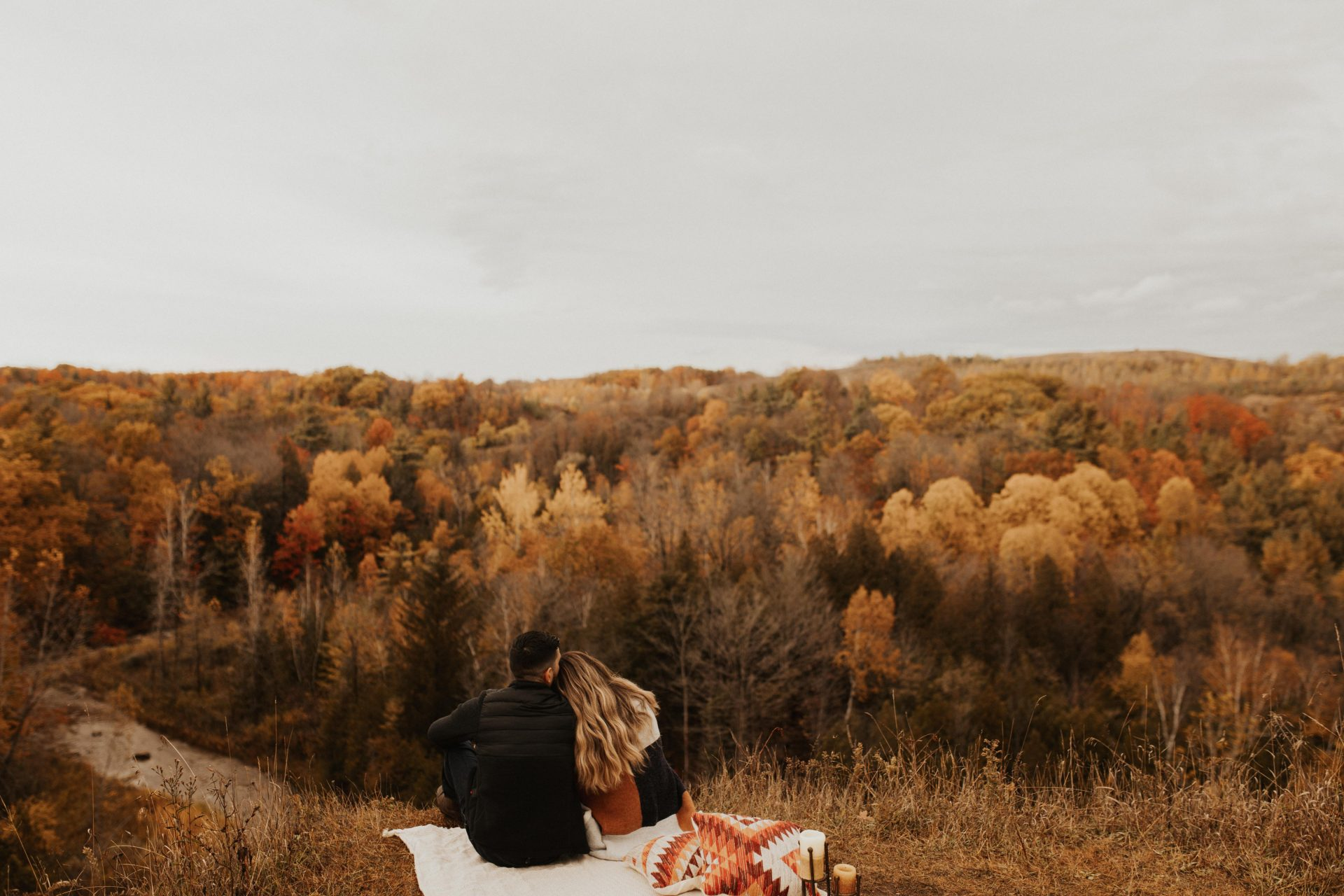 rouge valley fall engagement photos