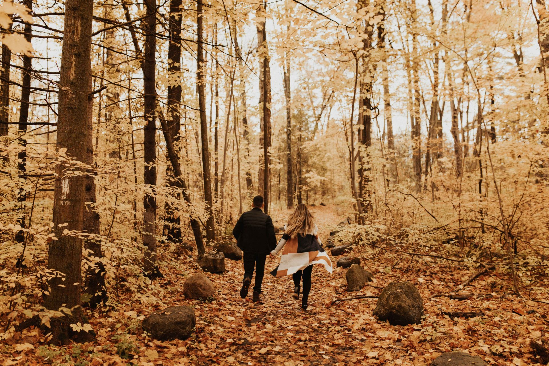 rouge national urban park fall engagement photos