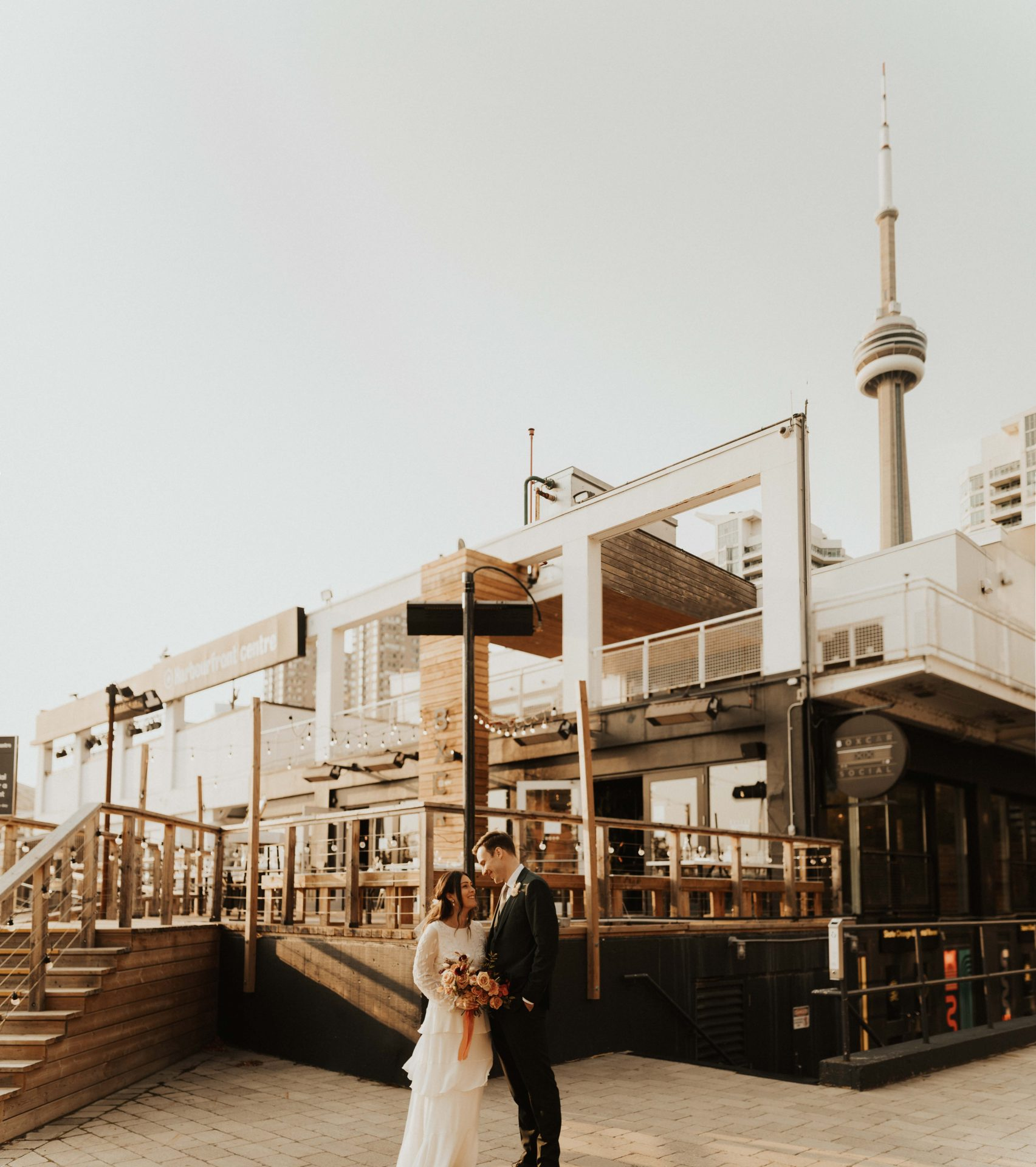 toronto harbourfront wedding photos