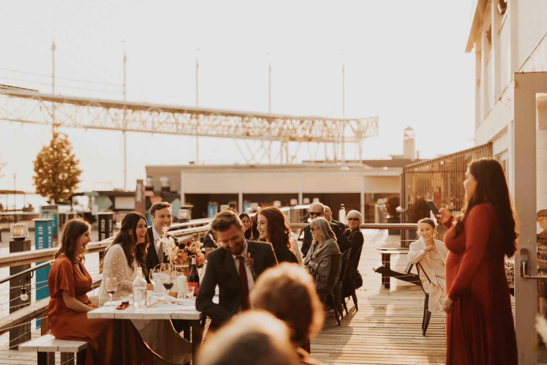 boxcar social toronto harbourfront wedding photos