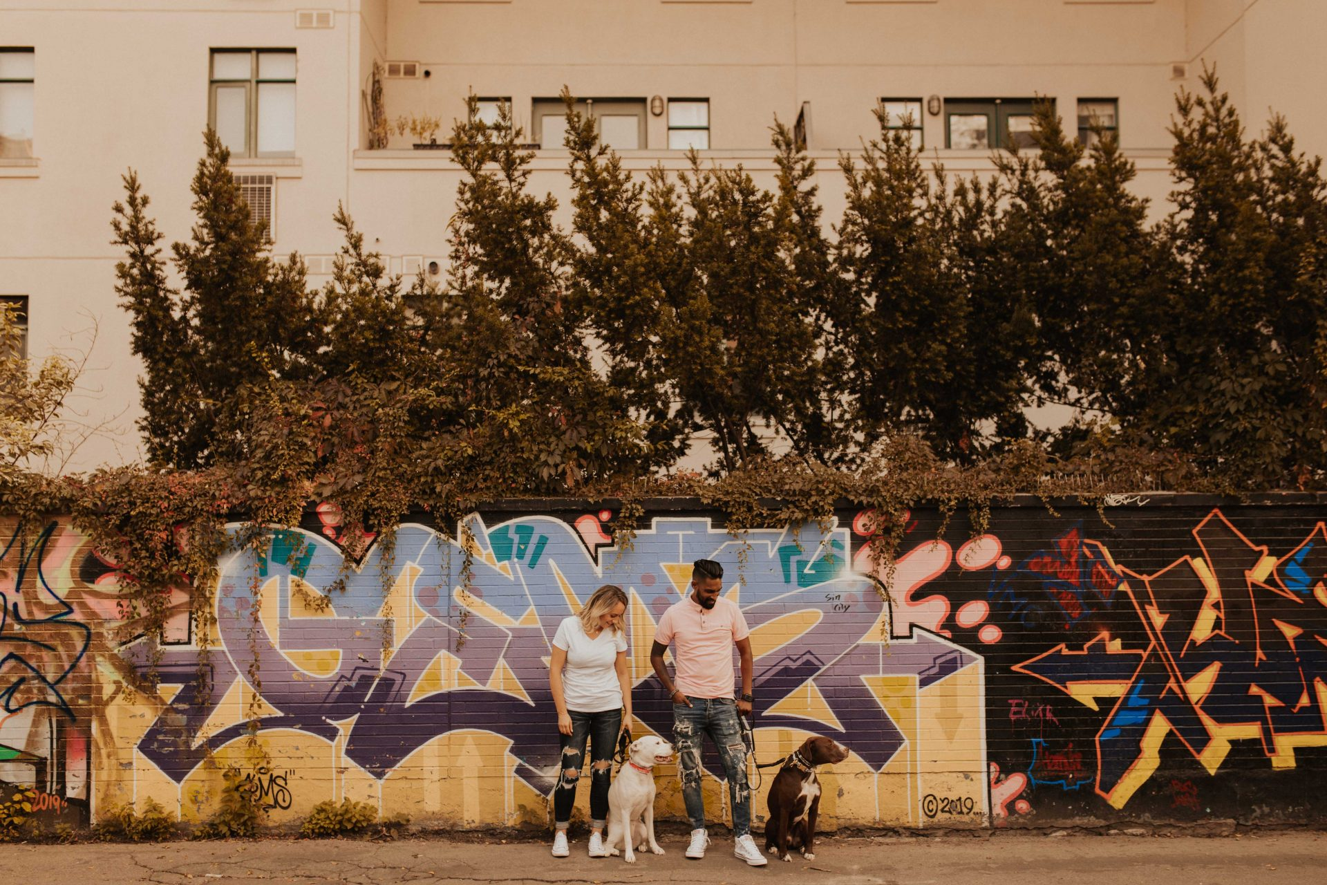 graffiti alley engagement photos