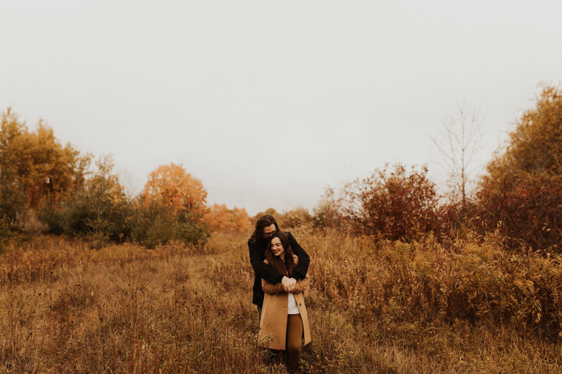 fall couples photos