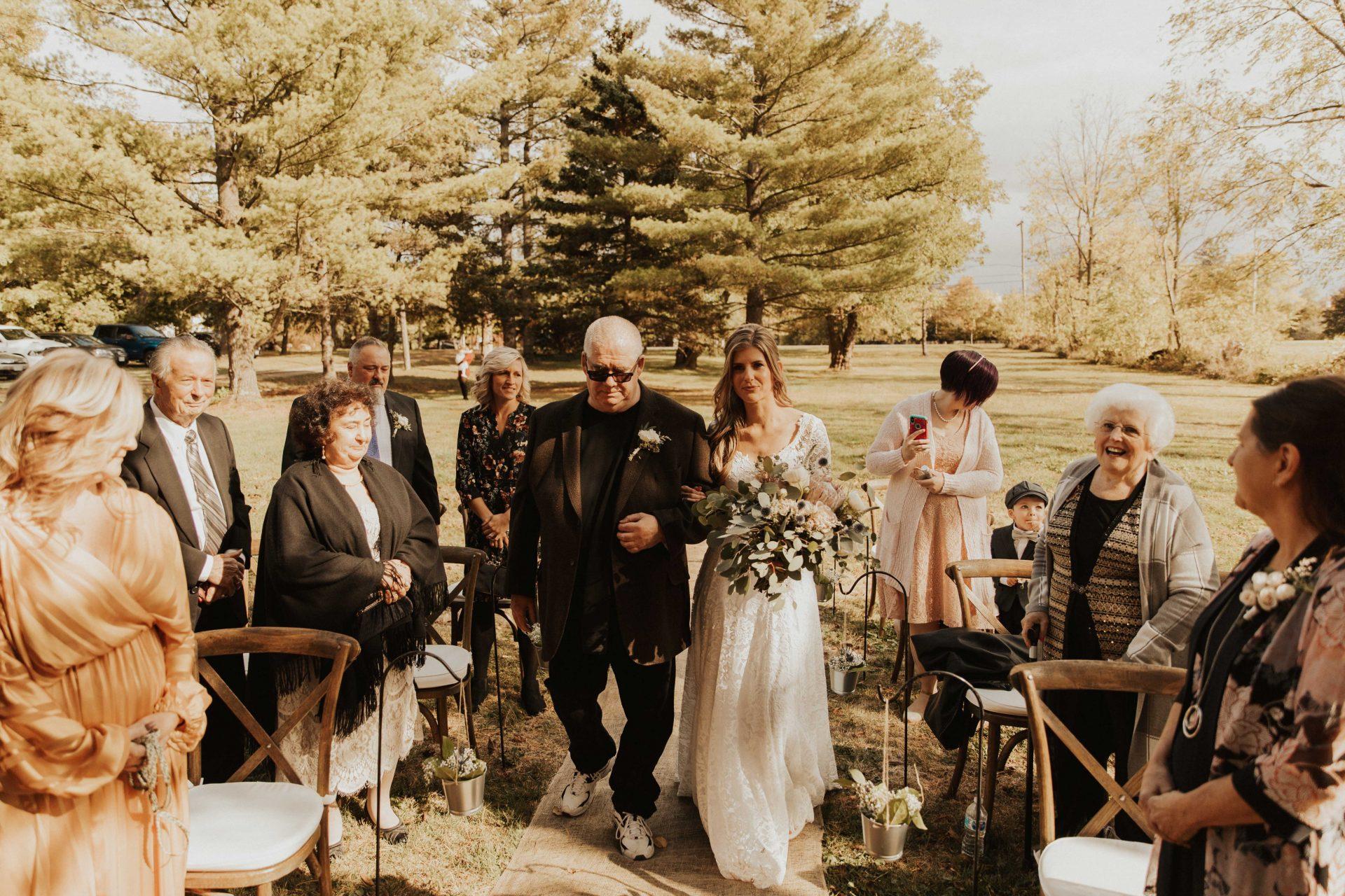 backyard wedding photos Ontario