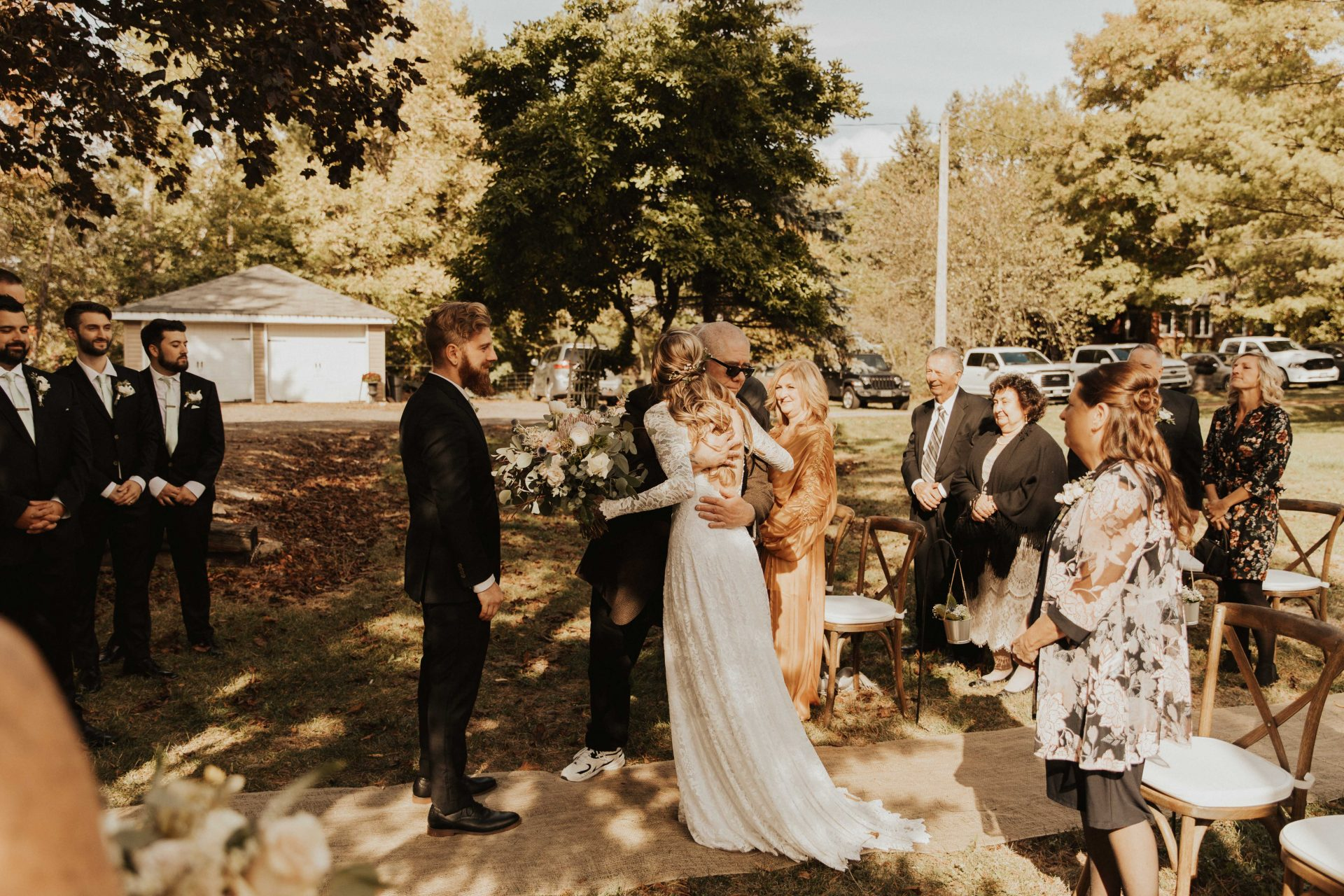 backyard wedding Ontario