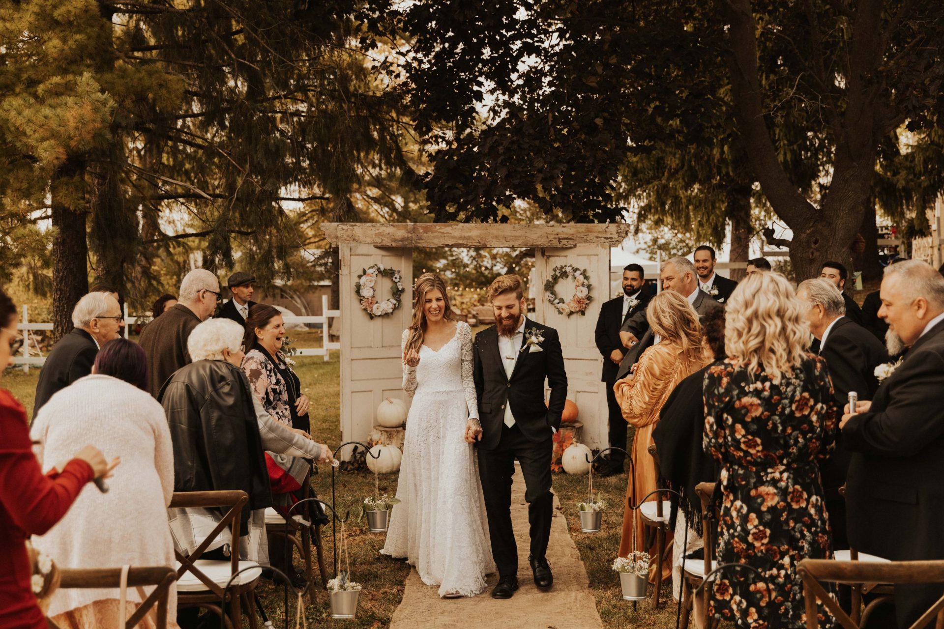 intimate backyard Hamilton wedding