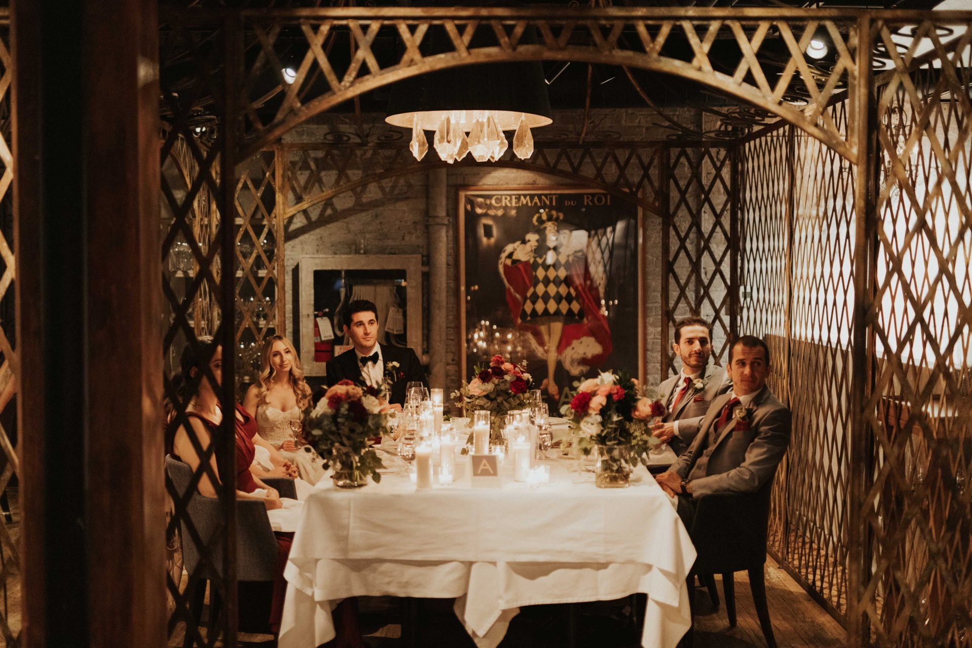 George restaurant wedding reception