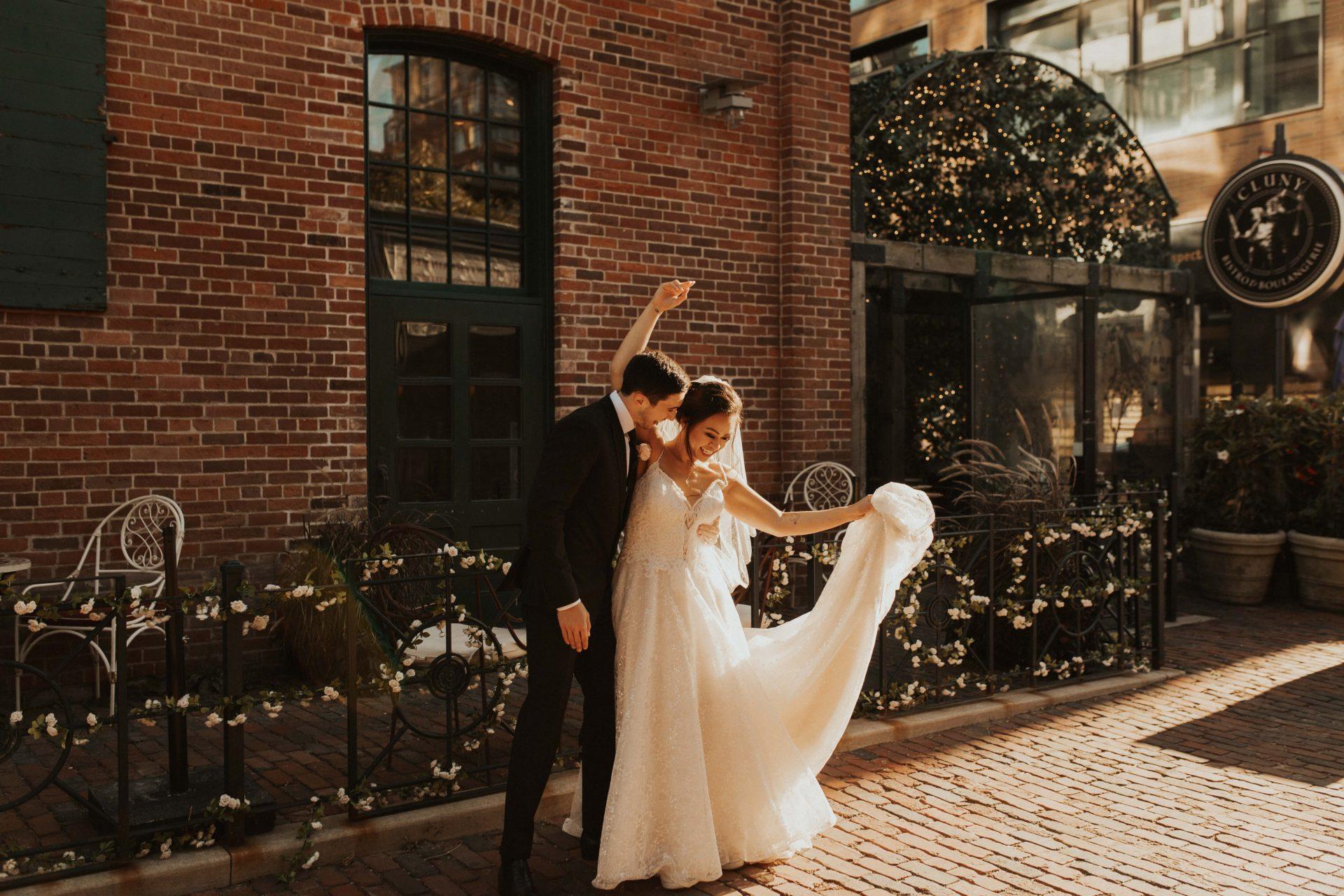 Cluny bistro wedding photos
