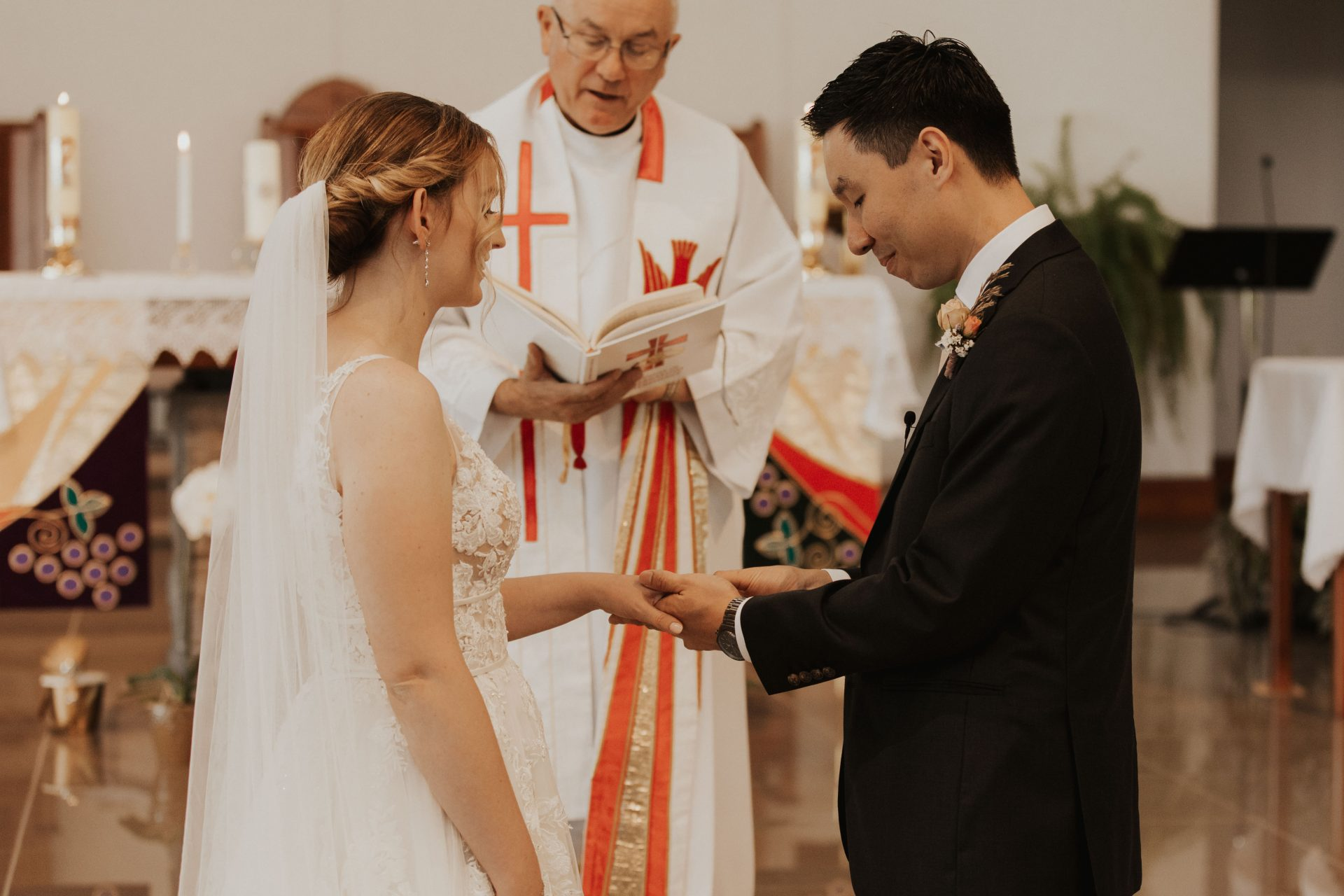 Holy Spirit parish barrie wedding photos