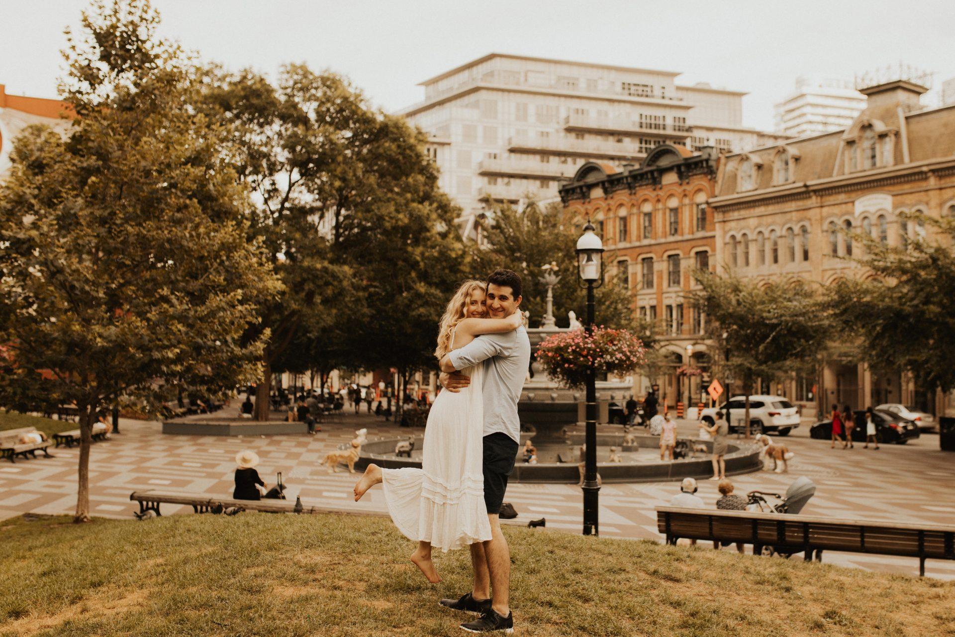 berczy park engagement photos