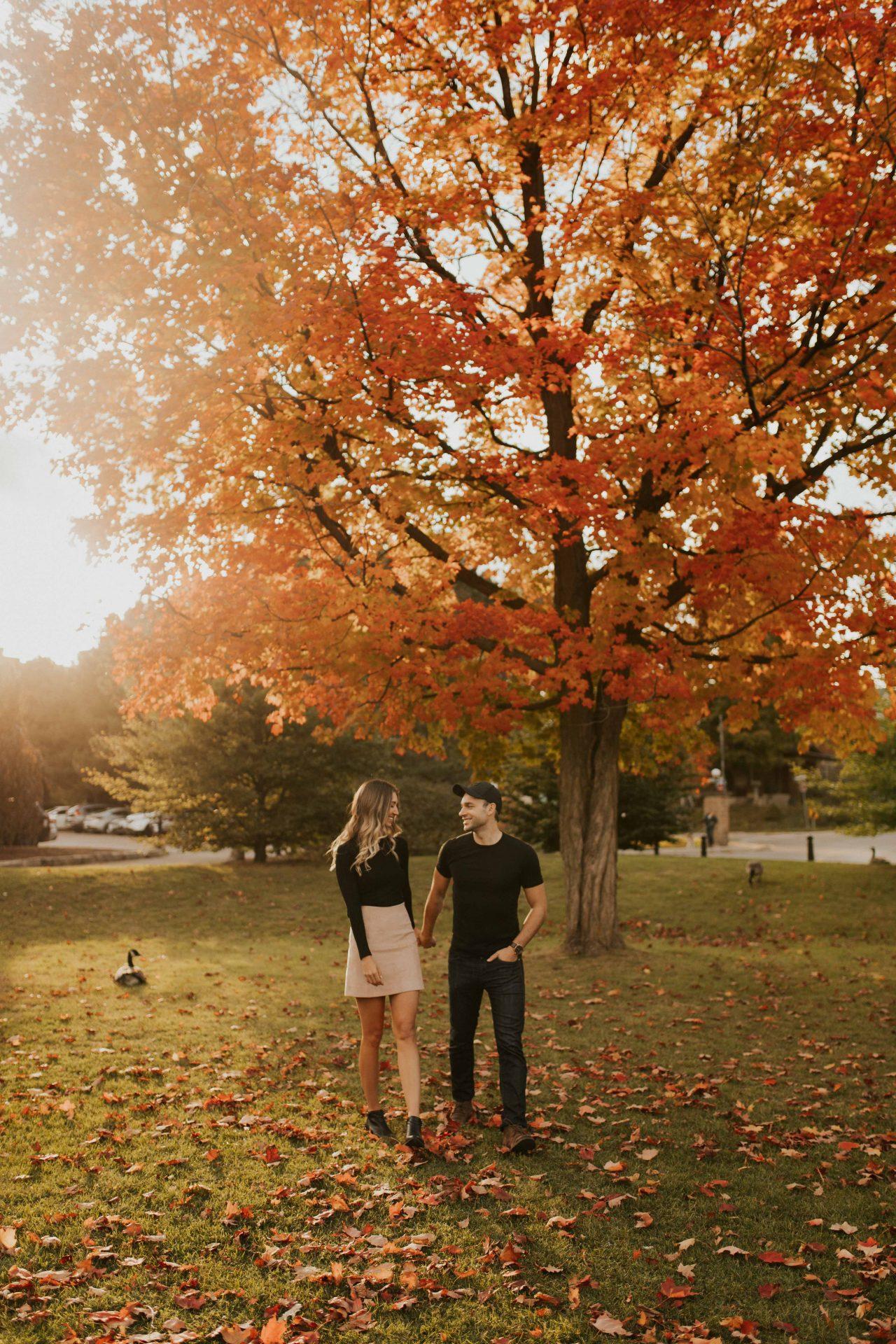 Victoria Park Kitchener engagement photos